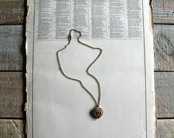 Vintage Gold Heart Shape Locket