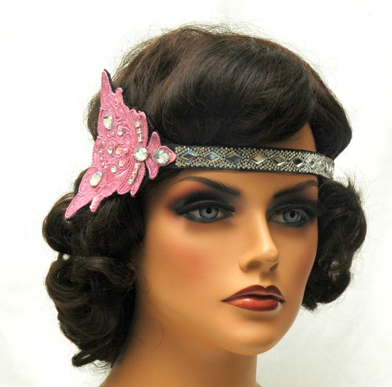 1920s Flapper Hair Accessories Great Gatsby Headband1920s