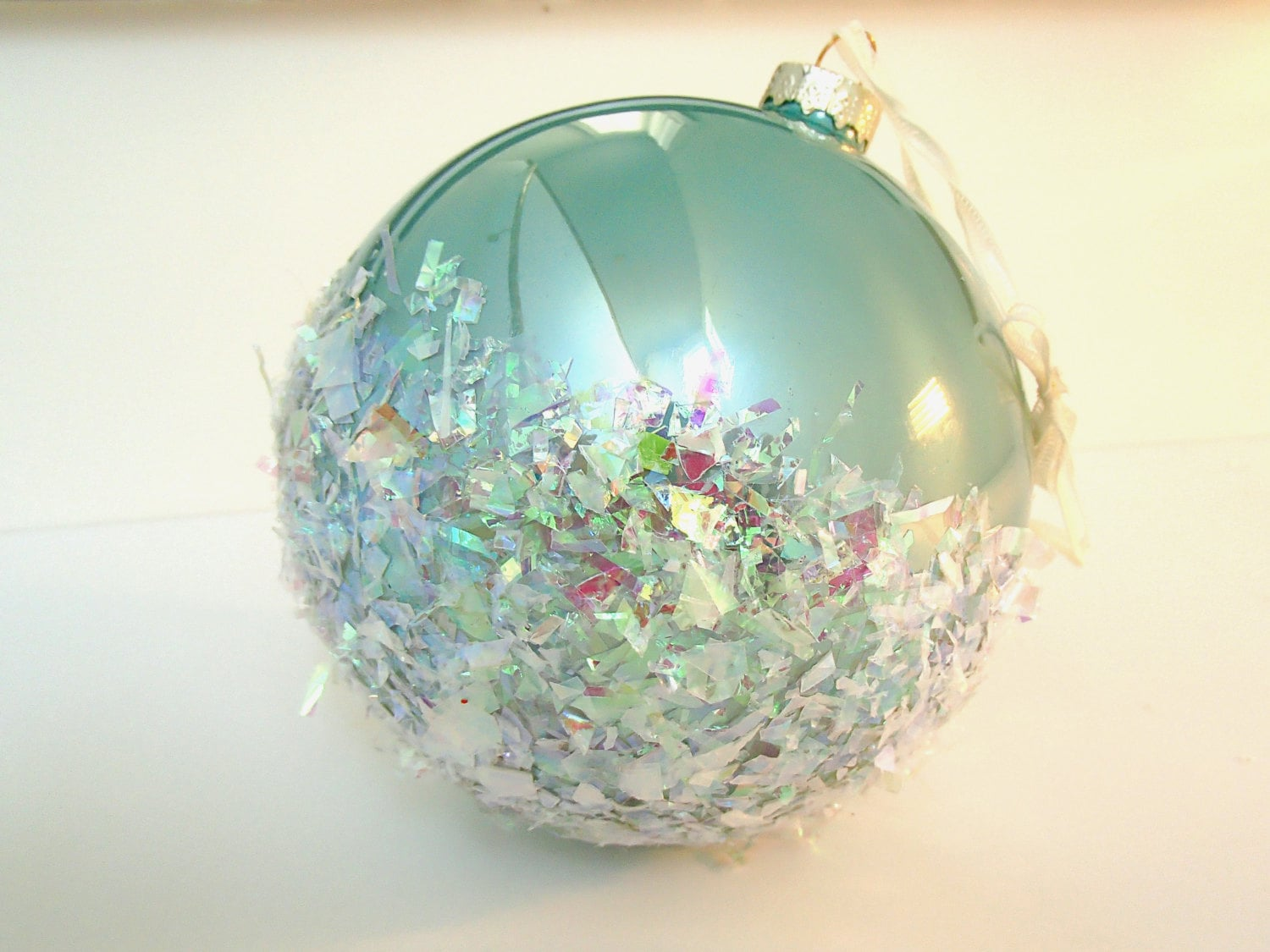 Coastal Christmas Ornament Beach Christmas Oversized Aqua