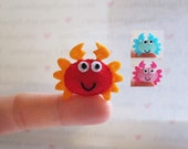 Felt Miniature - Felted Miniature crab - Felted crab - red crab felted miniature - crab miniature - tiny crab - felted pink crab