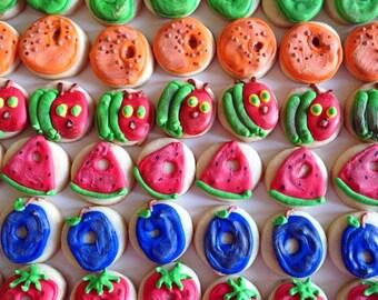 5 dozen Mini Very Hungry Caterpillar Theme Cookie Nibbles