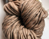 Super Bulky Tan Alpaca yarn Handspun soft big needle knitting supplies warm baby soft beige yarn neutral yarn natural yarn