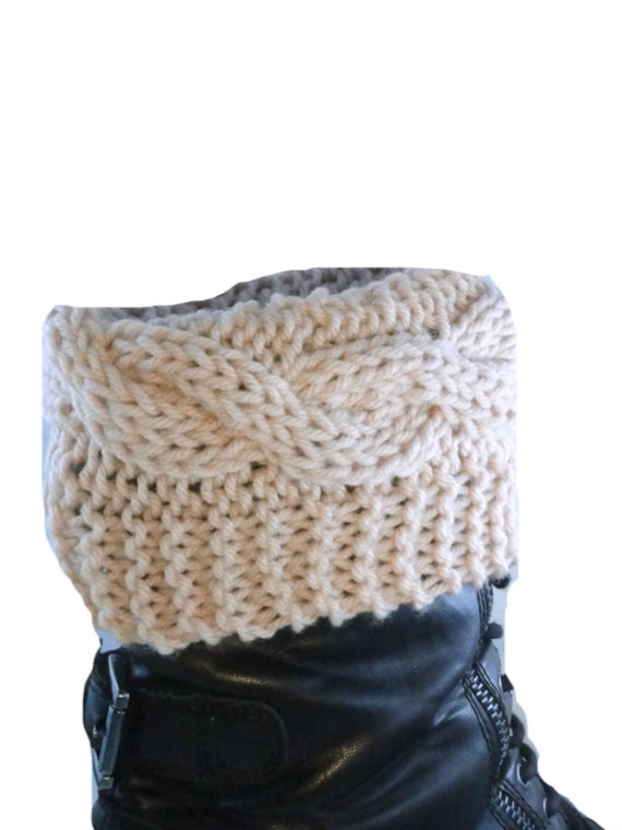 Boot Cuffs PDF Knitting Pattern Boot Toppers Stylish Boot Cuffs Boot Covers K...