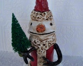 Primitive Snowman Red Woodsman