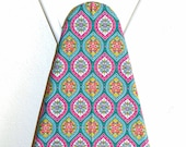RESERVED LISTING - Custom Ironing Board Cover - Moroccan Tile in pink, turquoise, teal and orange