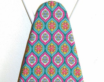 Ironing Board Cover - Moroccan Tile in pink, turquoise, teal and orange - Laundry and Housewares