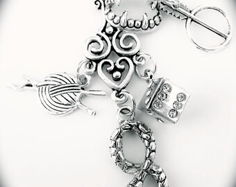 Ghastek - Character Inspired Charm Necklace - Kate Daniels Series - Urban Fantasy - Casino - Magic - Myth - Vampire Jewelry - Book Swag