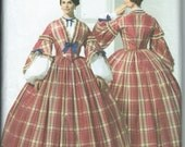 UNCUT Simplicity 3855 The Museum Curator Collection Misses Civil War Costume Pattern 8-10-12-14
