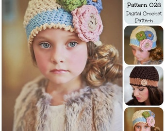 Crochet Pattern, The Little Cotton Cap Hat Pattern 028 , Crochet Beanie, Crochet Hat Pattern, Women's Hat Pattern, Children's Hat Pattern