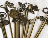 Bronze Charm Hair Stick Set - 15 Choices!