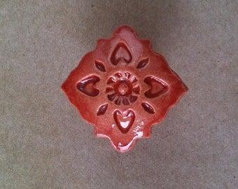 handmade ceramic furniture knob, drawer pull