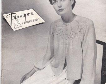 Paragon Knitting  Pattern For Women/Ladies Bed Jackets No 73 (Vintage 1940s) Original pattern