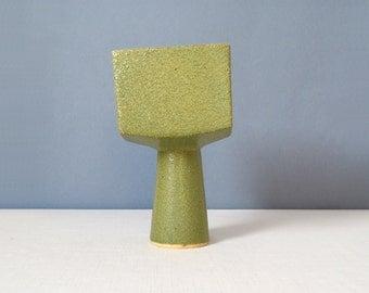 Vintage Square Ikebana Pedestal Vase