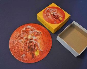 "Miss Piggy ""COMIN' ATCHA"" Vintage Mini Jigsaw Puzzle, Springbok Hallmark Cards Inc. 1979, 7 x 7 inch assembled, over 60 pieces"