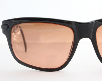 Vintage Oversized Serengeti Black Sunglasses Eyeglasses Frames
