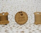 Cross Stitch Needle Minder, Cross Stitch Designs, Wood Magnetic Needle Minder. Hand embroidery, Needle Keeper.