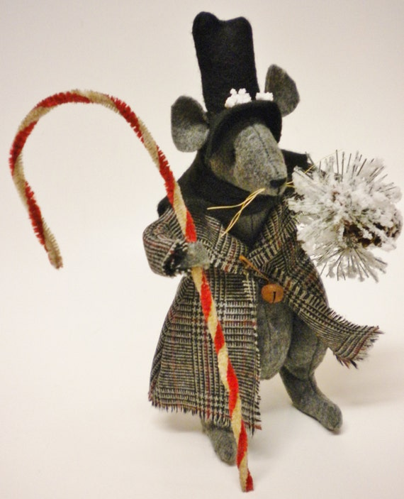 Victorian christmas mouse made to order primitive mouse for Order christmas decorations