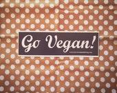 Go Vegan vinyl sticker