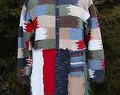 Interlock Color Block Art Wear Sweater Tunic - Upcycled