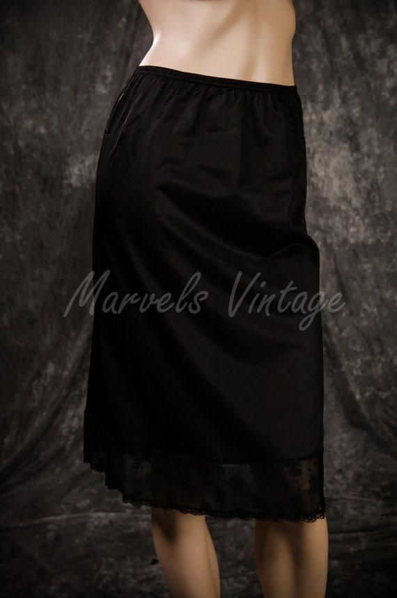 Vintage Vanity Fair Half Slip Black Lingerie By Marvelsvintage
