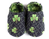 St. Patrick's Day Baby Boy Shoes, 0-6 mos. Baby Booties, Baby Gift