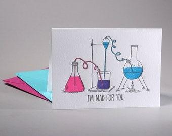 I'm Mad For You Letterpress Valentine Card
