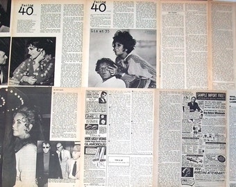 ELIZABETH TAYLOR ~ Cleopatra, National Velvet, Giant, Cat On A Hot Tin Roof, A Place In The Sun ~ B&W Articles from 1971-1984 - Batch 4