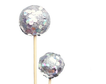 Disco Ball Cupcake Topper / Disco Ball Party Pick / Dance Party / Dance Party Cupcake Topper / Disco Birthday / Dance Birthday Silver Party