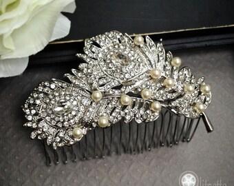 Bridal Comb, Bridal Accessories, Wedding Hairpiece, Bridal Hair Comb, Rhinestones Bridal Headpiece, Wedding Hair Accessories 104