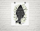 Everybody Is A Genius, Albert Einstein Quote Poster, Motivational Print, Typography Poster, Inspiration Quote Print, Illustrative Modern Art