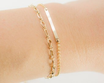 Kaiea bracelet - gold bar bracelet, simple gold layering bracelet, delicate layer bracelet, birthday gift, friendship bracelet, maui, hawaii
