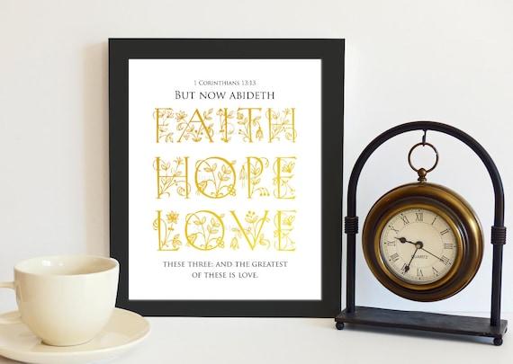 items similar to 1 corinthians 13 13 faith hope love bible. Black Bedroom Furniture Sets. Home Design Ideas