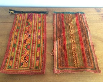 Vintage Thai Hill Tribe Textile - Ethnic Folk Art - Hmong embroidery