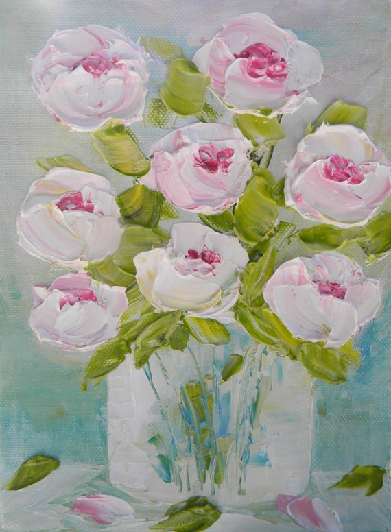 Abstract Oil Painting Peony Oil Painting Wedding