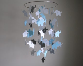 Elephant Mobile // Nursery Mobile - Choose Your Colors