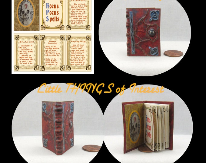HOCUS POCUS Book of Spells in 1:6 Scale Magic Spell Book Readable Book Wizard Witch Fortune Teller Gypsy