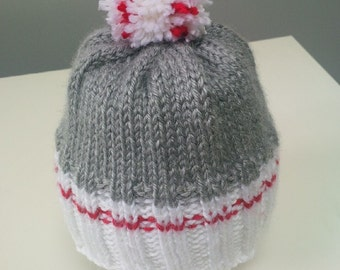 Work Sock Hat (Size: 3-6 months)