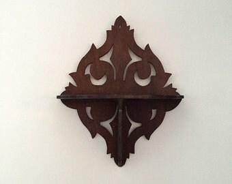 Vintage Wooden Shelf // Display Shelf