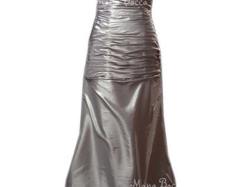 Silver wedding dress Victorian styled Edwardian dress Downton Abbey styled dresss made in the UK Limited quantity
