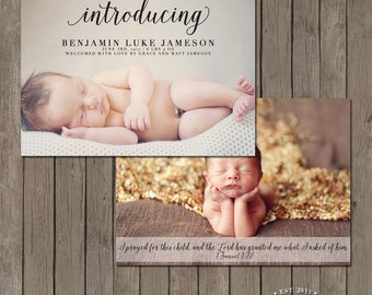 Printable Birth Announcement Photo Card - the Sweet Child Collection