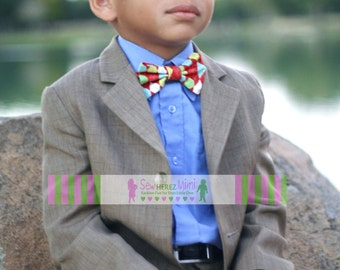 Red ARGYLE Bow Tie Sizes Infant, Child, Youth, Adult