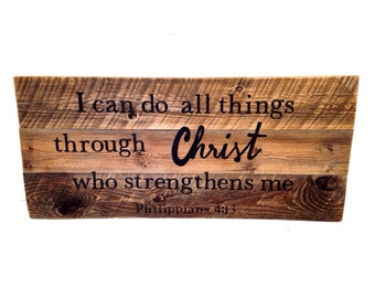 Reclaimed barn wood sign  Large Barn Wood Sign  Custom Painted Sign  Bible Verse Sign  Scripture Sign