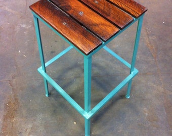 Restaurant Bar Stool - Trendy Painted Colorful Bar Seating Commercial Chairs Artisan Industrial Furniture - The Nantucket
