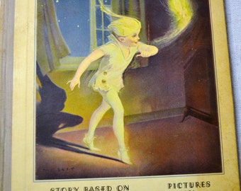Vintage Peter Pan Story Book 1931 Illustrated by Roy Best PanchosPorch