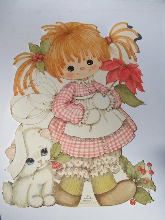 Raggedy Ann Hallmark White Kitten Vintage Christmas By