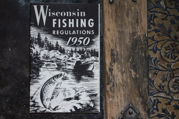 1950 wisconsin fishing regulations booklet for Wisconsin fishing license