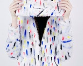 Confetti Hand Painted Monster Clutch Bag AW14