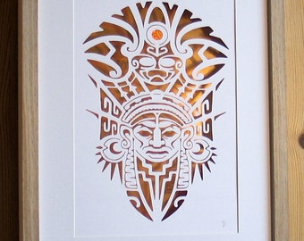 Paper Cut, Papercutting, Paper Cutting, Papercut Art, Paper Cut Art, Paper Cutting Art, Paper Cut Out, Wall Art, Pictures, Papercut, Mayan