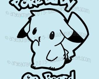 Pokebaby on Board Vinyl Decal