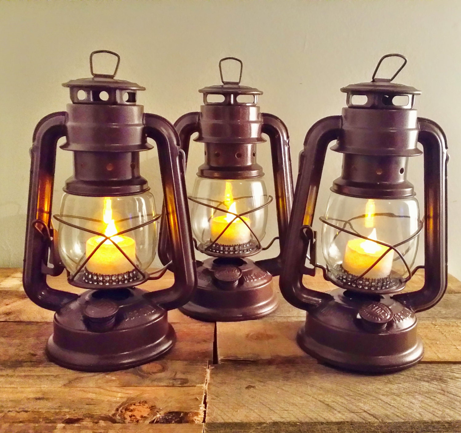 Rustic wedding centerpiece railroad lantern by recycledrevival